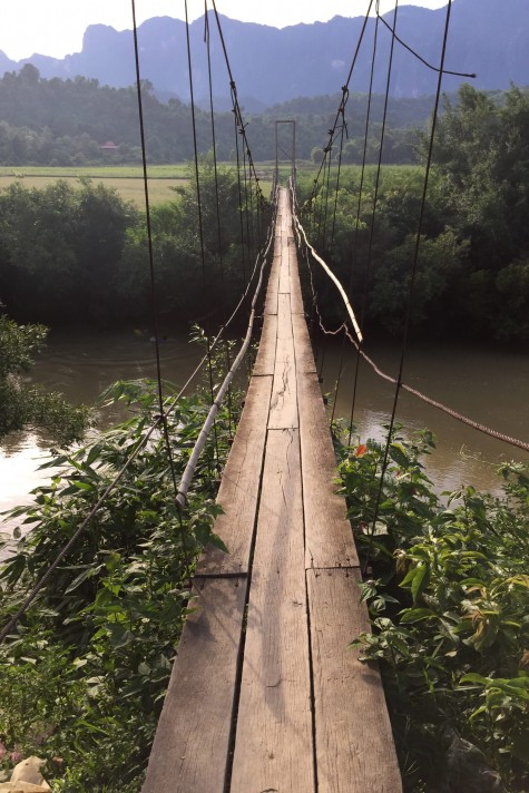 Take a stroll over the Nam Lik. Photo taken in or around Kasi, Laos by Cindy Fan.
