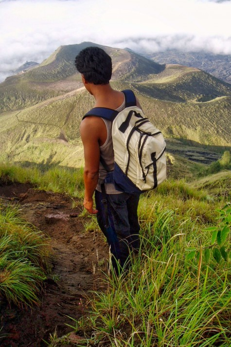 A good guide makes all the difference. Photo taken in or around Climbing Gunung Batur, Gunung Batur, Indonesia by Sally Arnold.