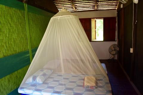 The interior of a cheaper room.