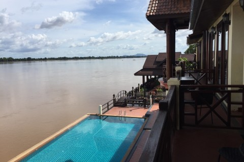 One of the best positioned hotels on Don Khong.