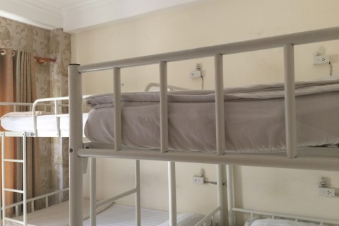 Smart metal-framed dorm beds.