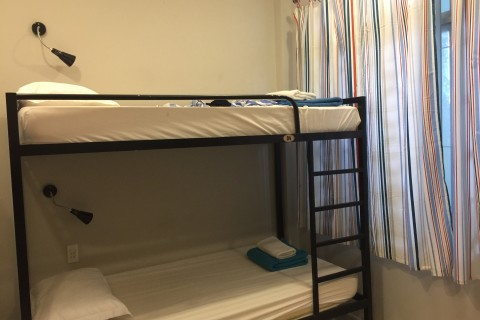 Standard issue dorm bunks.