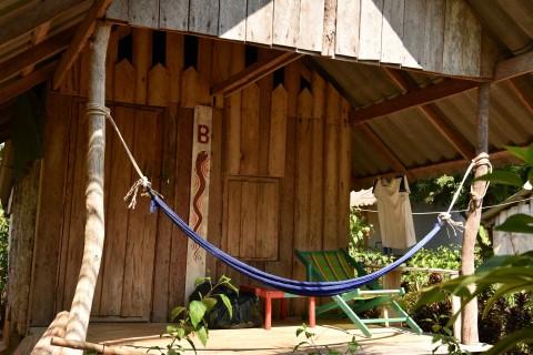 Back to basics wooden beach shack.