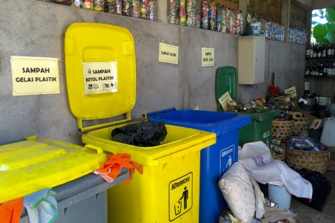 The best looking rubbish room we've seen anywhere.