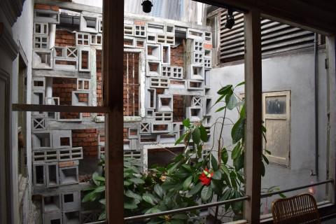 The hostel atrium.