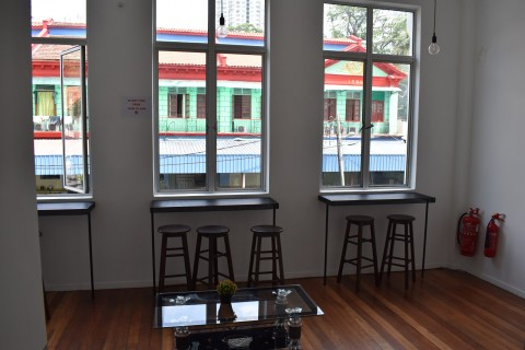 The upstairs common area.