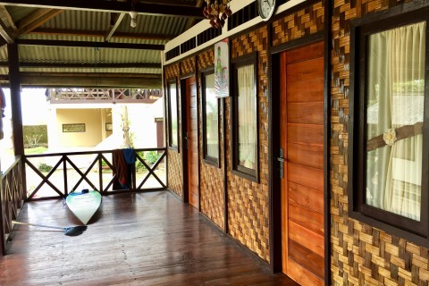Longhouse style rooms.