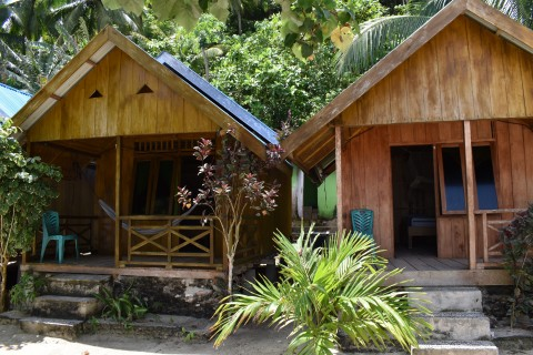 Basic beach shacks.