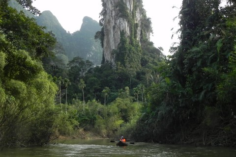 Amazing scenery at Khao Sok National Park.