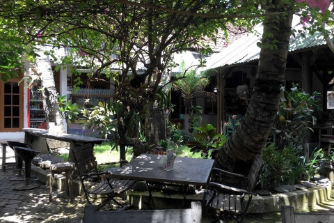A lovely garden setting makes Warung Sulawesi a great cheap Indonesian option in the pricey Petitenget area.