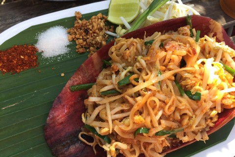 Pad thai at Sooksavan Cafe.