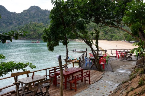 Grab a table with a view at Ko Yao Viewpoint.