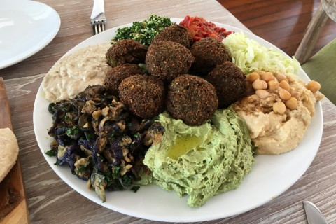 A massive falafel plate at Zula.