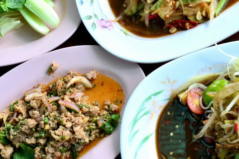 A veritable fiery feast at Tam Paa Kalasin.