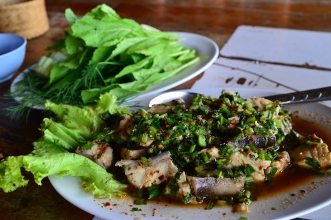 A light lunch in Mukdahan.