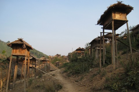 Trekking into an Akha village outside Luang Nam Tha. Photo taken in or around Luang Nam Tha, Laos by Stuart McDonald.