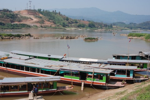 The slowboat pier. Photo taken in or around Huay Xai, Laos by Cindy Fan.