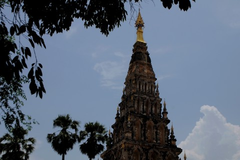 Towering spire at Wiang Khum Khan. Photo taken in or around Chiang Mai, Thailand by Mark Ord.