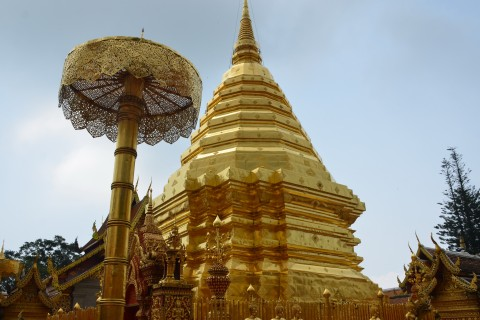 Glittering Doi Suthep. Photo taken in or around Chiang Mai, Thailand by Mark Ord.