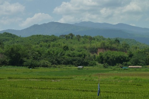Doi Pha Hom Pok - at a distance. Photo taken in or around Fang, Thailand by Mark Ord.