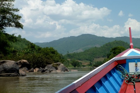 On the river. Photo taken in or around Tha Ton, Thailand by Mark Ord.