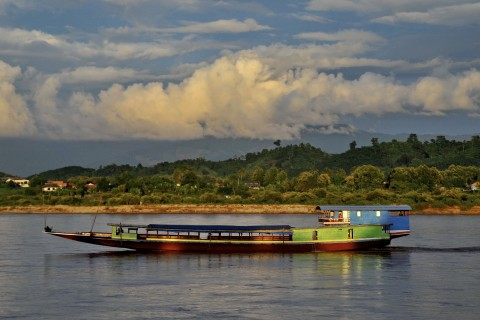 Slowly down (or up!) the Mekong Photo taken in or around Chiang Saen, Thailand by Mark Ord.