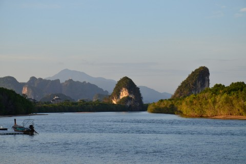 Out on the river near Krabi. Photo taken in or around Krabi, Thailand by David Luekens.