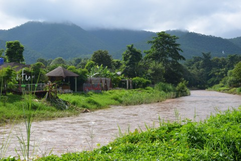 A wet season visit need not mean torrential rain. Photo taken in or around Pai, Thailand by Mark Ord.