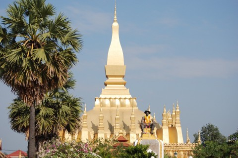 That Luang. Photo taken in or around Vientiane, Laos by Cindy Fan.