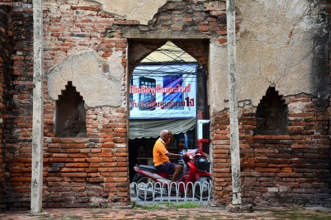 The old and the new. Photo taken in or around Lopburi, Thailand by David Luekens.