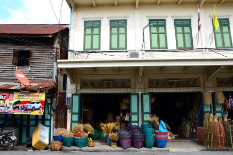 Some of Lopburi's old shophouses. Photo taken in or around Lopburi, Thailand by David Luekens.