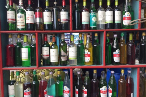 Local petrol store. Photo taken in or around Don Khon, Laos by Cindy Fan.