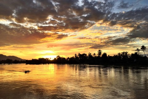 Sunset on Don Khon. Oh my. Photo taken in or around Don Khon, Laos by Cindy Fan.