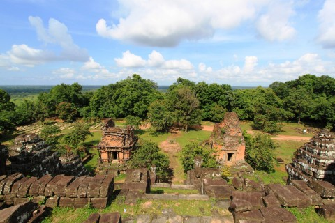 A rare quiet moment at the Bakheng. Photo taken in or around Angkor, Cambodia by Caroline Major.