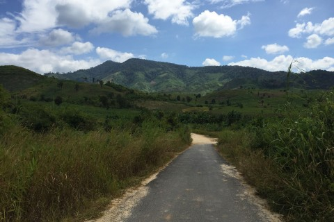On the road... Photo taken in or around Kon Tum, Vietnam by Cindy Fan.