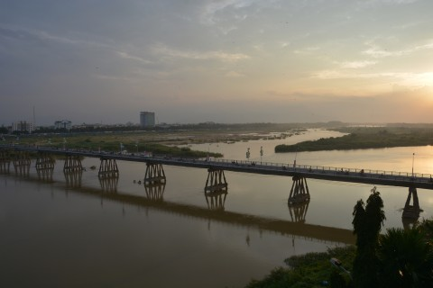 Bridge and river views are about as good as it gets. Photo taken in or around Quang Ngai, Vietnam by Cindy Fan.