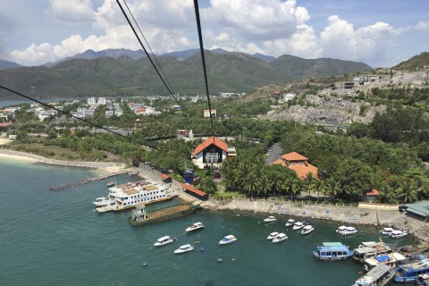 The view from up high. Photo taken in or around Nha Trang, Vietnam by Cindy Fan.
