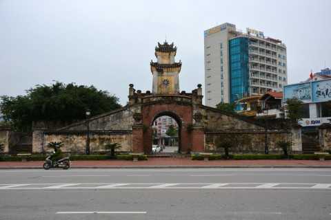 Dong Hoi City Gate. Photo taken in or around Dong Hoi, Vietnam by Cindy Fan.
