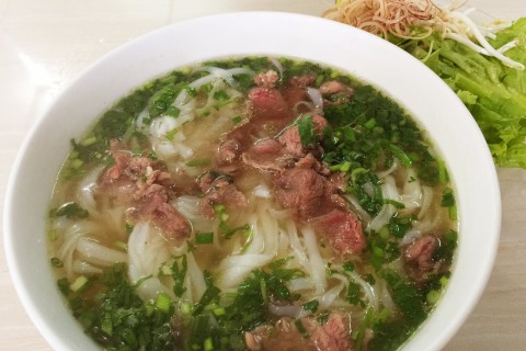 Pho is great on a cold Dong Hoi day. Photo taken in or around Dong Hoi, Vietnam by Cindy Fan.