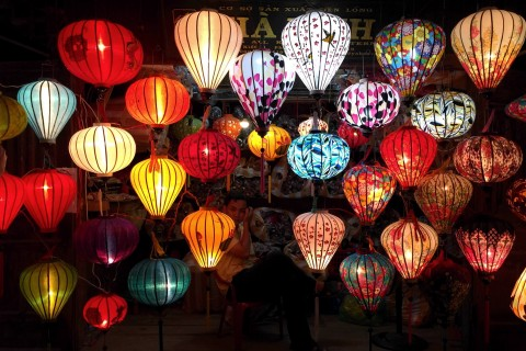 Hoi An's signature lanterns.