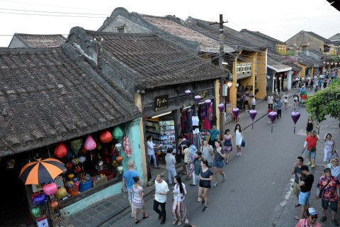 Walking the streets of Hoi An. Photo taken in or around Hoi An, Vietnam by Cindy Fan.