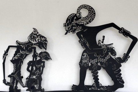 Wayang kulit, or shadow puppets: Art form and also metaphor used by so many Western writers. Photo taken in or around Yogyakarta, Indonesia by Sally Arnold.