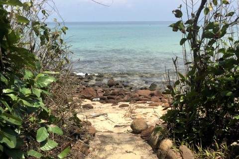 Plenty of paths for exploring on Koh Rong Samloem. Photo taken in or around Koh Rong Samloem, Cambodia by Nicky Sullivan.