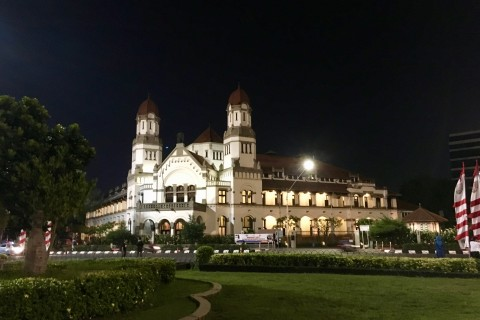 Lawang Sewu at night. Photo taken in or around Semarang, Indonesia by Sally Arnold.