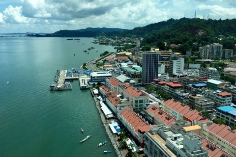 Sandakan sits at the mouth of Sandakan Bay on the north coast of Sabah. Photo taken in or around Sandakan, Malaysia by Sally Arnold.