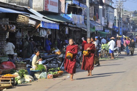 Everyday street scenes. Photo taken in or around Hpa-an, Burma_myanmar by Mark Ord.