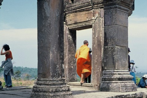 The monks are still coming. Photo taken in or around Preah Vihear Temple, Cambodia by Stuart McDonald.