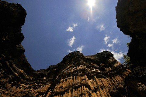 Towering cliffs at Mae Wang National Park. Photo taken in or around Mae Wang, Thailand by Mark Ord.