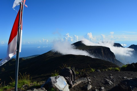 On top of the world. Photo taken in or around Tambora, Indonesia by Stuart McDonald.