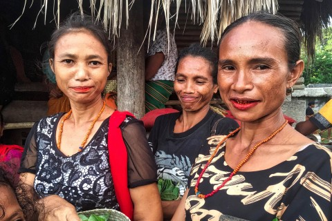 Women at Pasola. Photo taken in or around Sumba, Indonesia by Sally Arnold.
